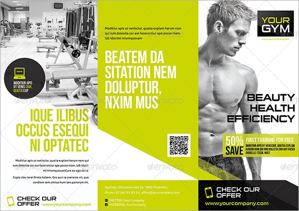 17 Best Gym Brochure Templates Download Documents in PSD – Gym Brochure