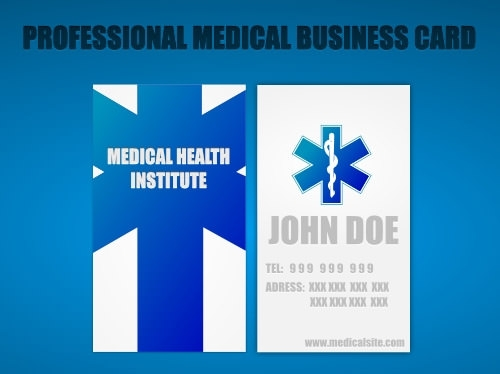 Two Sided Medical Business Cards Template