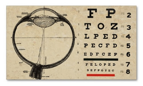 Vintage ophthalmologist business cards