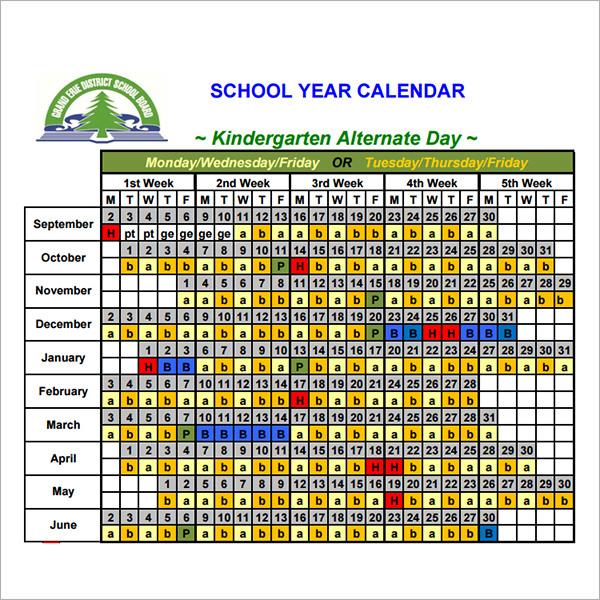 14 Calendar Templates for Kindergarten – Calendar Templates for Kindergarten