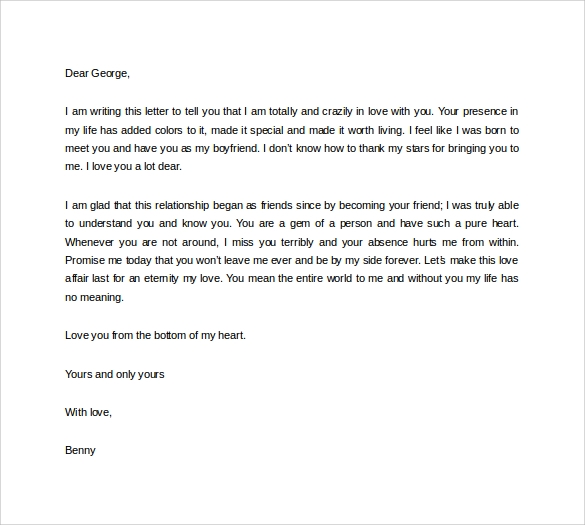 i love you letter to my boyfriend