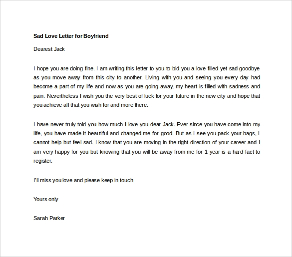 Sample love letters to boyfriend 16 free documents in word pdf sad love letter to boyfriend template spiritdancerdesigns