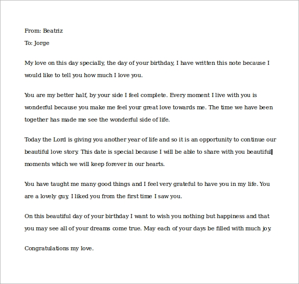 birthday love letter to boyfriend template