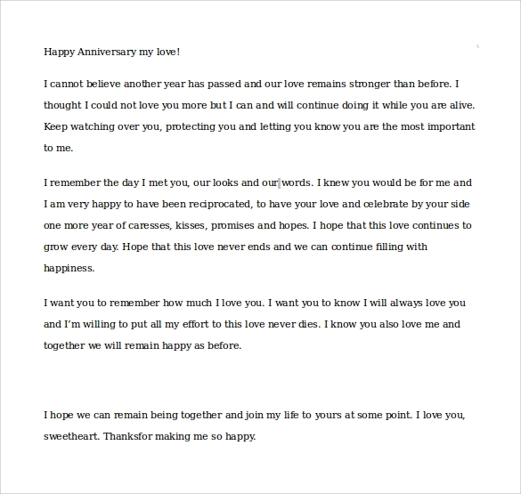 Sweetest Letter To Boyfriend from images.sampletemplates.com