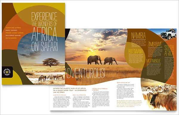african safari brochure template1