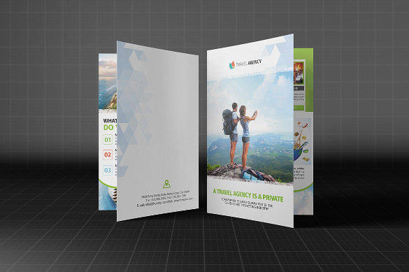 holiday travel agency bifold brochure download