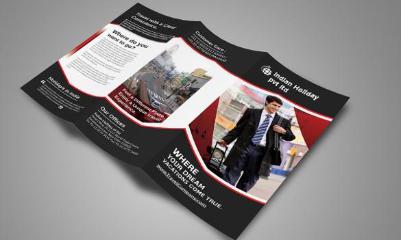 new travel tri fold brochure template