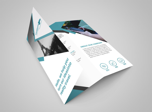 sample trifold travel brochure template