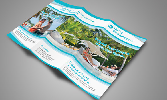 Best Travel Brochure Templates Sample Templates - Tri fold brochure photoshop template