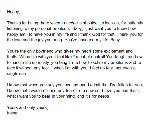 Love Letter to Boyfriend After Misunderstanding