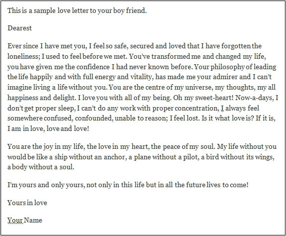 Love Letters To Your Boyfriend  Gplusnick