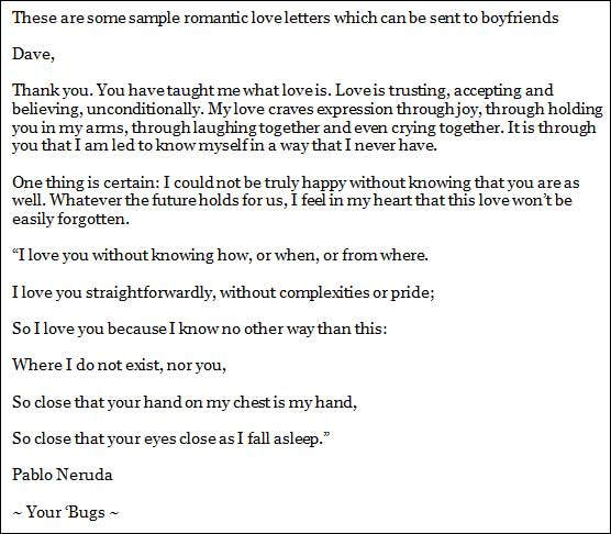 Love Letters for Boyfriend
