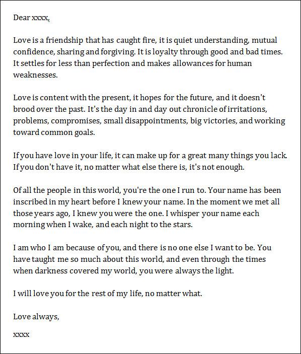 Sample Letter For Boyfriend from www.sampletemplates.com