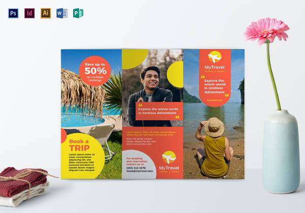 sample travel agency brochure template download