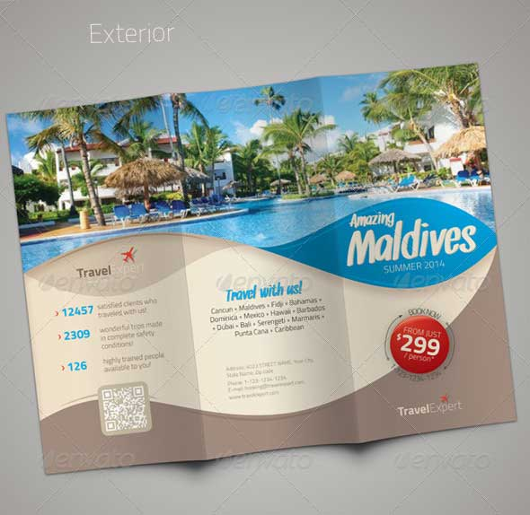 27 best travel brochure templates sample templates for Sample brochure design tourism