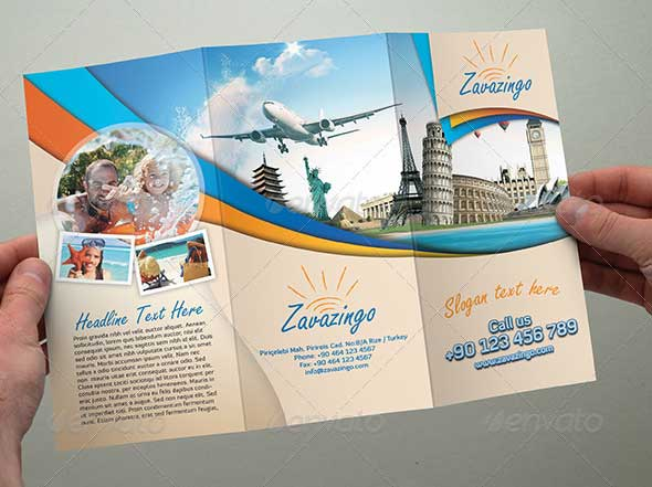 Travel Brochure Template Download In PSD Vector EPS - Travel brochure template for students