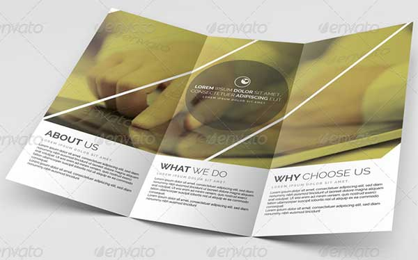 travel multipurpose trifold brochure template