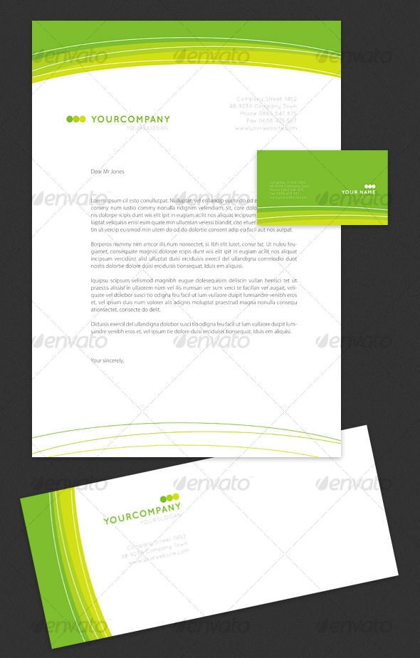 119 Sample Business Letterhead Templates Green on free construction, microsoft office,