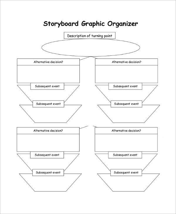 graphic storyboard organizer sample