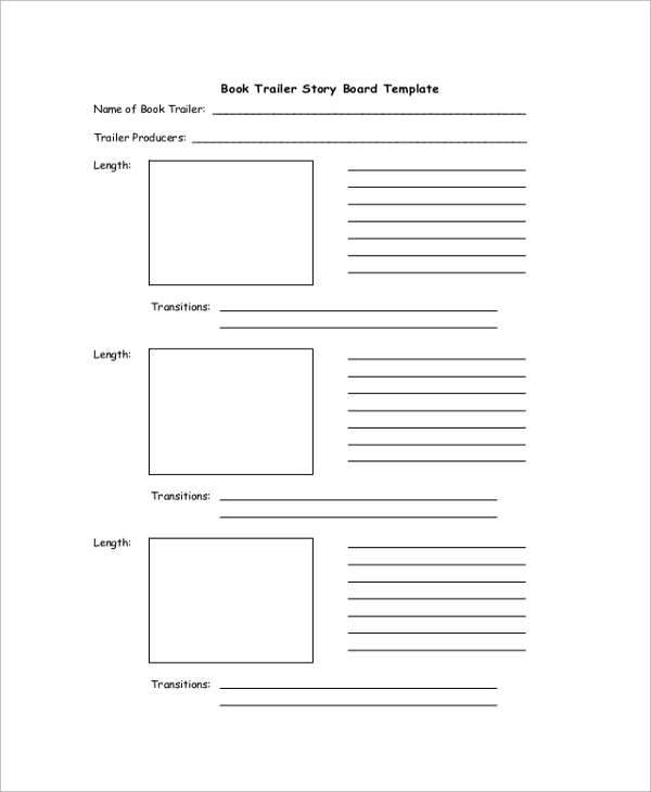 book trailer storyboard