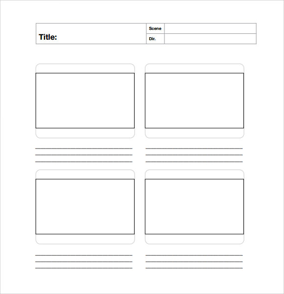 Storyboard Template   15  Free Documents Download in PDF Word PPT Fxv72N4b