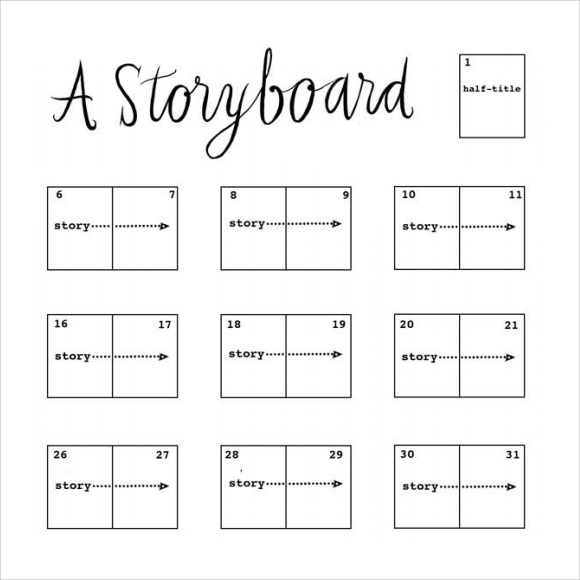 Storyboard Sample Storyboard Template Word