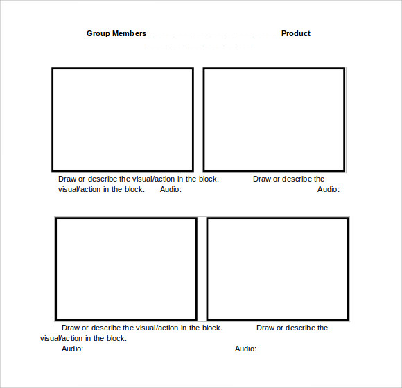 Storyboard Template Word p9ez66Nr