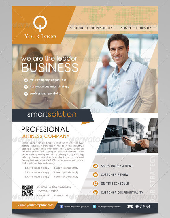 20 awesome business flyer templates sample templates for Free business flyer templates