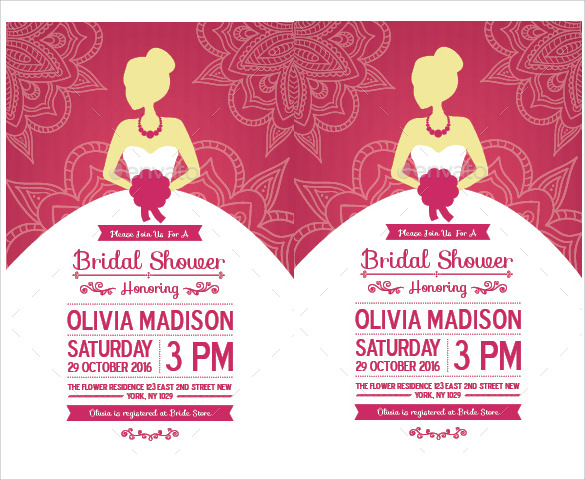 Sample Bridal Shower Invitation Template