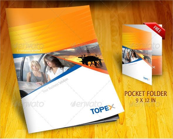 18 best company brochure templates sample templates for Personal profile design templates