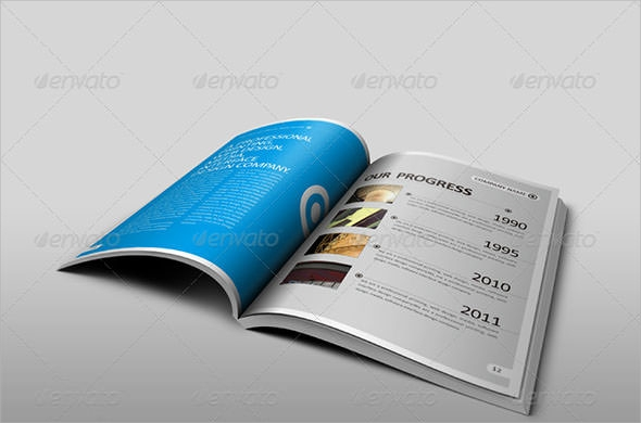 a5 vertical modern business brochure