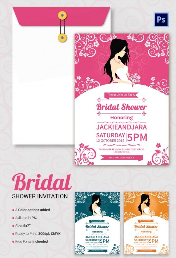 Sample Bridal Shower Invitation Template 25 Documents in PDF – Free Invitation Template Word