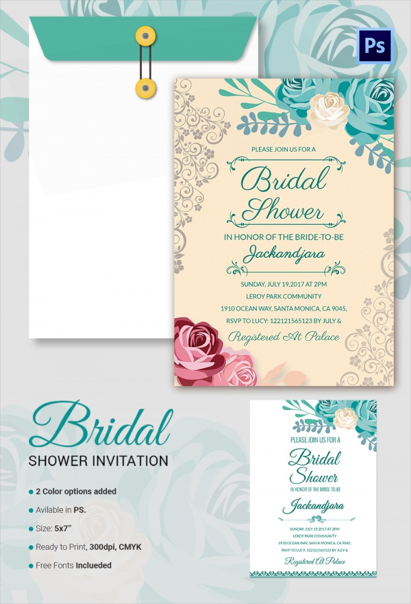 Sample Bridal Shower Invitation Template 25 Documents in PDF
