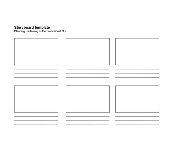 Smart image in storyboard template printable