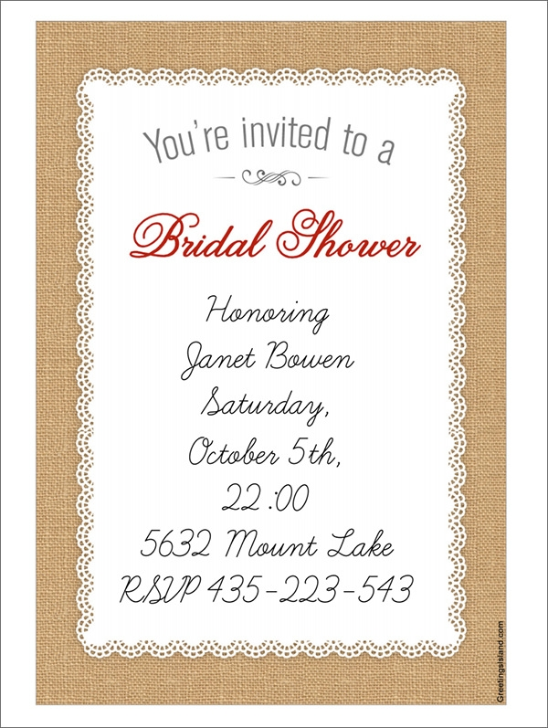 bridal shower invitations templates