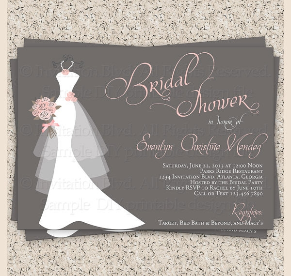 bridal shower invitation etsy