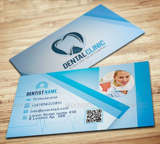 17 medical business card templates sample templates dentist business card wajeb Image collections