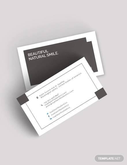 dentist business card1