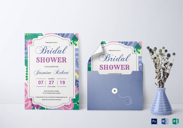 elegant bridal shower invitation template1