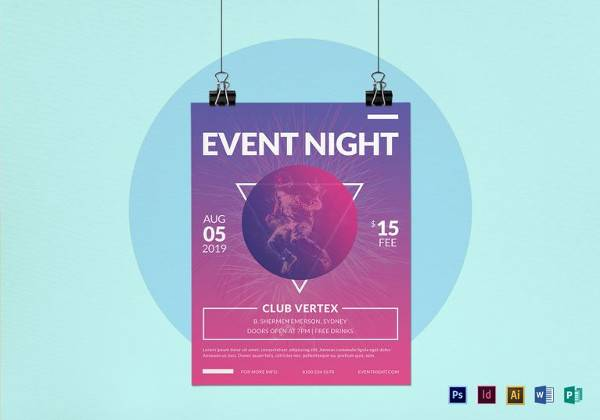 event night flyer template