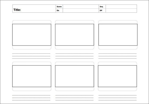 Storyboard Template - 14+ Free PDF , DOC Download | Sample Templates