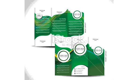 green tri fold