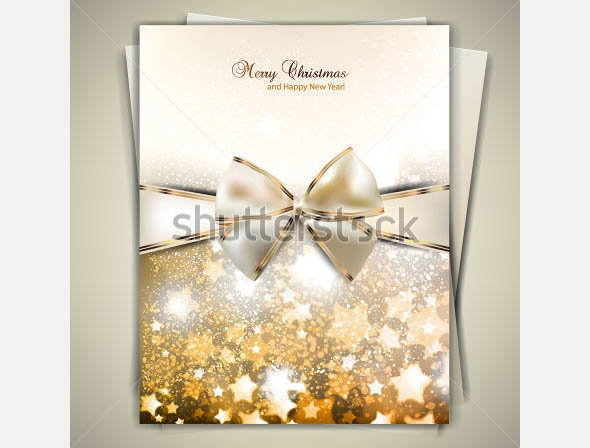 greeting card with white bow