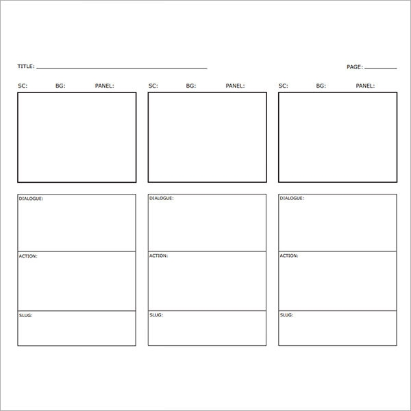 Blank Storyboard Template Word