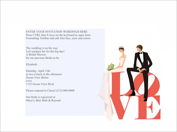 love – bridal shower invitation
