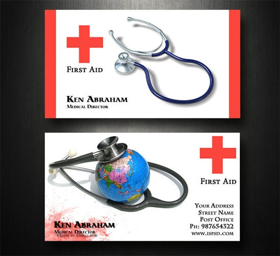 17 Medical Business Card Templates Sample Templates
