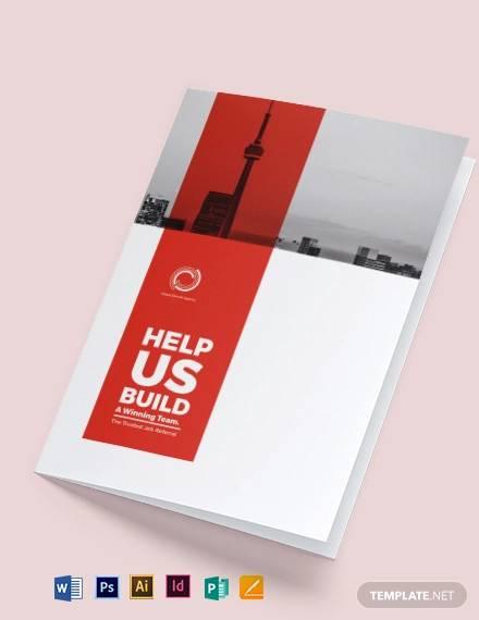 modern company profile bi fold brochure template