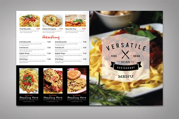 19 beautiful restaurant menu design templates sample