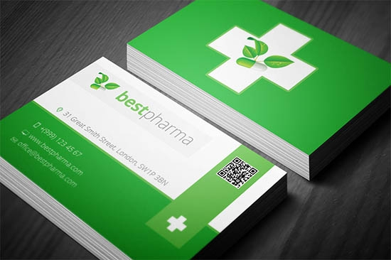 17 medical business card templates sample templates for Pharmacist business card