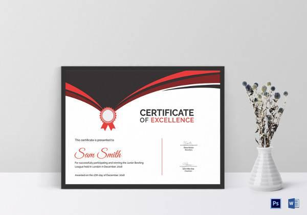 printable bowling award certificate